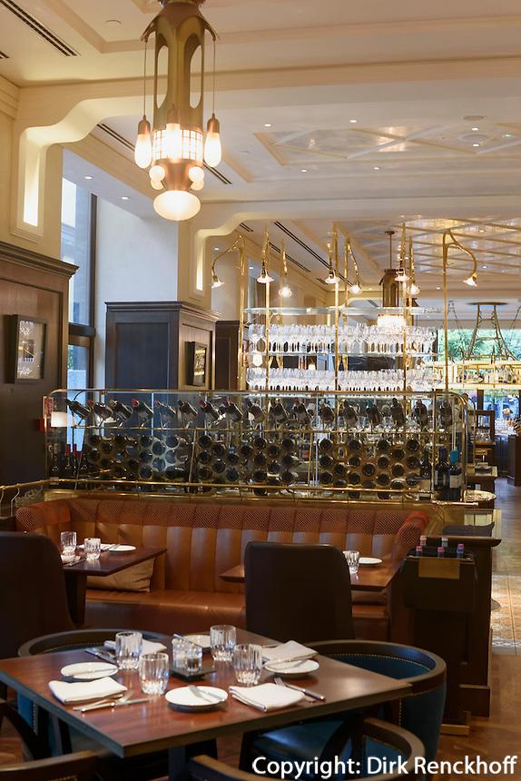 Restaurant im Hotel Palais Gresham am Széchenyi tér 5-6, Budapest, Ungarn, UNESCO-Weltkulturerbe