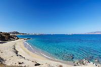Orkos beach of Naxos island in Cyclades, Greece