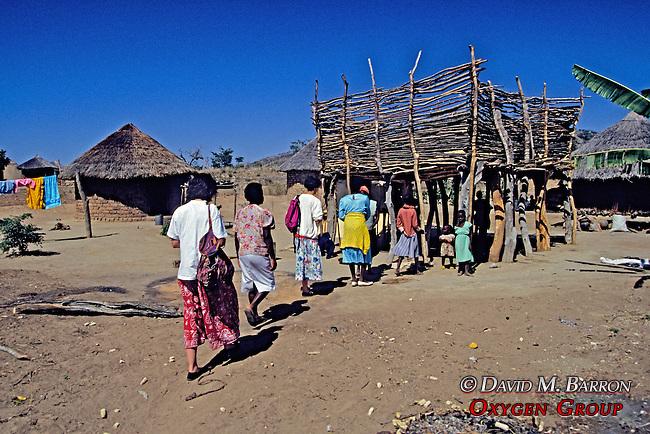 Walking Into Village