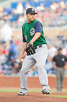 Starting pitcher Jhonny Nunez #26 of the Charlotte Knights in action during game tow of a double header against the Durham Bulls at Durham Bulls Athletic Park on August 28, 2011 in Durham, North Carolina.   (Brian Westerholt / Four Seam Images)