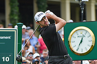 4th June 2021; Dublin, Ohio, USA; Patrick Cantlay (USA) watches his tee shot on 10 during the Memorial Tournament Rd2 at Muirfield Village Golf Club on June 4, 2021 in Dublin, Ohio.