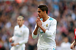 Real Madrid's Raphael Varane dejected during La Liga match. April 8,2018. (ALTERPHOTOS/Acero)