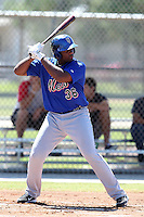 New York Mets outfielder Aderlin Rodriguez #36 during an Instructional League game against the Minnesota Twins at Lee County Sports Complex on October 4, 2011 in Fort Myers, Florida.  (Mike Janes/Four Seam Images)