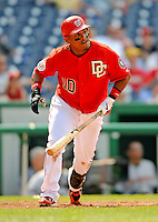 13 July 2008: Washington Nationals' infielder Ronnie Belliard in action against the Houston Astros at Nationals Park in Washington, DC. The Astros shut out the Nationals 5-0 to take the rubber match of their 3-game series, as both teams head into the All-Star break and the second half of the 2008 season...Mandatory Photo Credit: Ed Wolfstein Photo