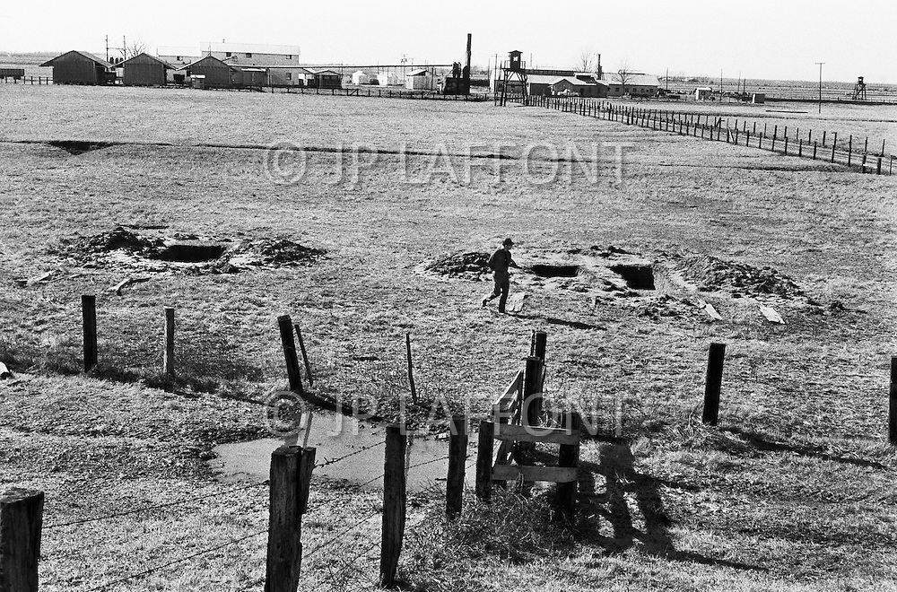 Cummings, AR. February 1968.<br /> View of the farm at the Cummins unit of Arkansas State Penitentiary where inmates work. The corruption scandal of the historical penitentiary inspired the 1980 film Brubaker, which chronicled the warden's inside investigation into the corrupt southern prison system.