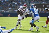 Arkansas quarterback KJ Jefferson (1) carries the ball, Saturday, October 9, 2021 during the fourth quarter of a football game at Vaught Hemingway Stadium in Oxford, Miss. Check out nwaonline.com/211010Daily/ for today's photo gallery. <br /> (NWA Democrat-Gazette/Charlie Kaijo)