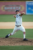 High Point-Thomasville HiToms relief pitcher Carter Bosch (16) (Georgetown) in action against the Martinsville Mustangs at Finch Field on July 26, 2020 in Thomasville, NC.  The HiToms defeated the Mustangs 8-5. (Brian Westerholt/Four Seam Images)