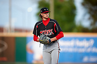 Lake Elsinore Storm starting pitcher Chris Paddack (25) prepares to deliver a pitch during a California League game against the Rancho Cucamonga Quakes at LoanMart Field on May 18, 2018 in Rancho Cucamonga, California. Lake Elsinore defeated Rancho Cucamonga 5-4. (Zachary Lucy/Four Seam Images)