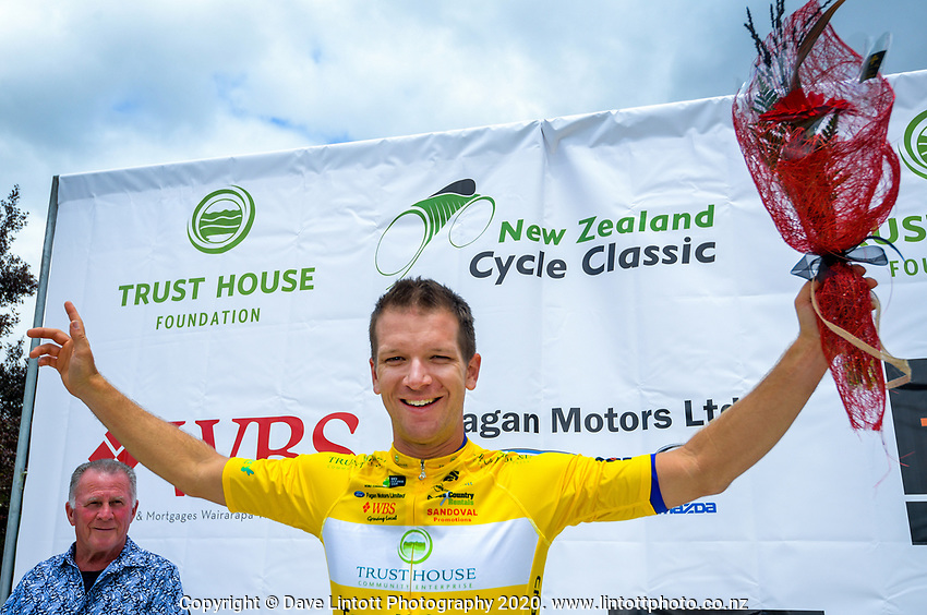 Tour leader Aaron Gate. Day one of the NZ Cycle Classic UCI Oceania Tour in Wairarapa, New Zealand on Wednesday, 15 January 2020. Photo: Dave Lintott / lintottphoto.co.nz