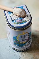 Europe/France/Provence-Alpes-Côte d'Azur/13/Bouches-du-Rhône/Camargue: Fleur de sel de camargue //  France, Bouches du Rhone, Camargue Flower Salt