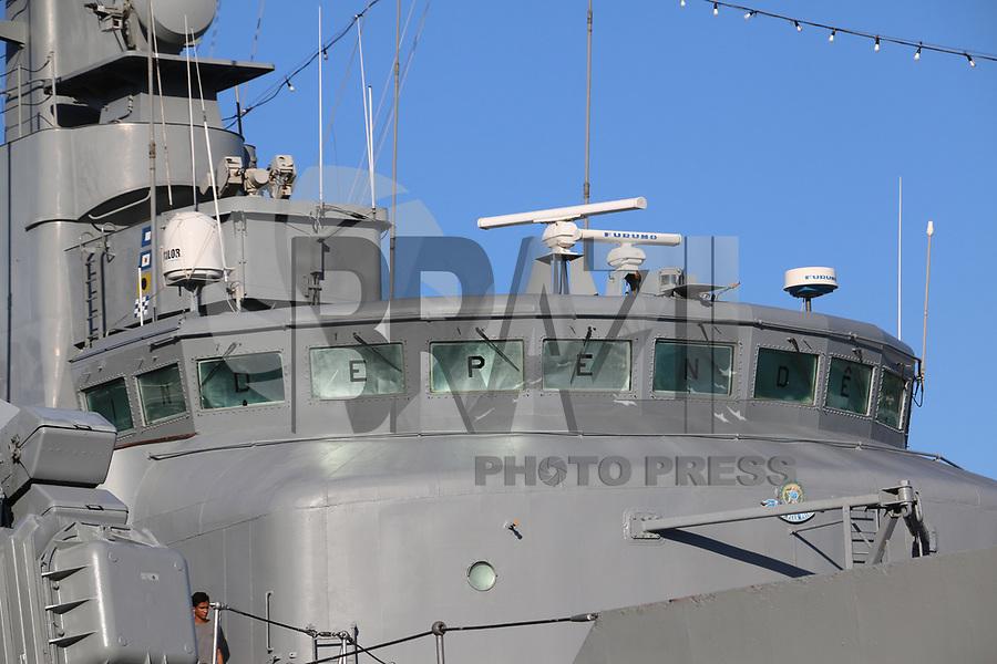 VITÓRIA, ES, 11.05.2019 - MARINHA-ES - Fragata Independência F44, da Marinha do Brasil aberta a visitação pública no Porto de Vitória - ES, neste sábado, 11. ( Foto Charles Sholl/Brazil Photo Press/Folhapress)