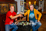 Enjoying a pint and a get together at Brosnan's Bar in Listowel on Monday, l to r: PJ Mahoney and Aidan Murphy.