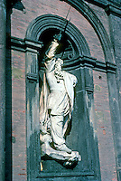 Italy: Naples--Sculpture of Victor Emanuel II in Royal Palace. Photo '83.