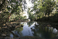 Guatemala, Wasserbecken Siete Altares (7 Altäre) in Amatique Bay am  Golf von Honduras