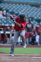 Arizona Diamondbacks second baseman Keshawn Lynch (7) at bat during an Instructional League game against the Kansas City Royals at Chase Field on October 14, 2017 in Phoenix, Arizona. (Zachary Lucy/Four Seam Images)
