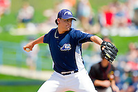 West Michigan Whitecaps relief pitcher Julio Felix (10) in action against the Quad Cities River Bandits at Fifth Third Ballpark on May 5, 2013 in Comstock Park, Michigan.  The River Bandits defeated the Whitecaps 5-4.  (Brian Westerholt/Four Seam Images)