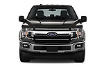 Car photography straight front view of a 2018 Ford F-150 XLT SuperCab 6-1/2 Box 2 Door Pick Up