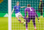 Celtic v St Johnstone…06.12.20   Celtic Park      SPFL<br />Ali McCann crossses the ball<br />Picture by Graeme Hart.<br />Copyright Perthshire Picture Agency<br />Tel: 01738 623350  Mobile: 07990 594431