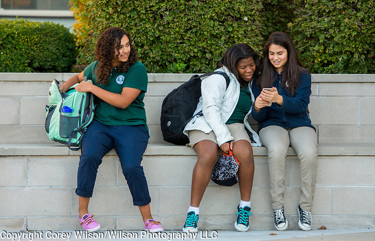 Notre Dame Academy student engagement during the school day and in extracurricular activities on Oct., 22, 2015.