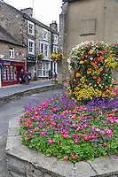 UK, England, Pateley Bridge, Yorkshire.  Street Scene from the Town Square.