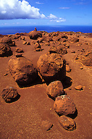Red rock formations at Garden of the Gods, north shore of Lanai