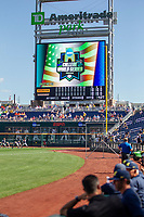 Before Game 1 of the NCAA College World Series Finals on June 24, 2019 at TD Ameritrade Park in Omaha, Nebraska. Michigan defeated Vanderbilt 7-4. (Andrew Woolley/Four Seam Images)