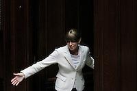 Anna Maria Bernini Popolo della Liberta' PdL.Roma 25/01/2012 Voto alla Camera dei Deputati per la mozione unitaria sulla politica europea dell'Italia.Foto Insidefoto Serena Cremaschi