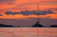 Trunk Bay at sunset.Virgin Islands National Park.St John, US Virgin Islands
