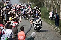 the Haaghoek cobbles passage<br /> <br /> <br /> 103rd Ronde van Vlaanderen 2019<br /> One day race from Antwerp to Oudenaarde (BEL/270km)<br /> <br /> ©kramon