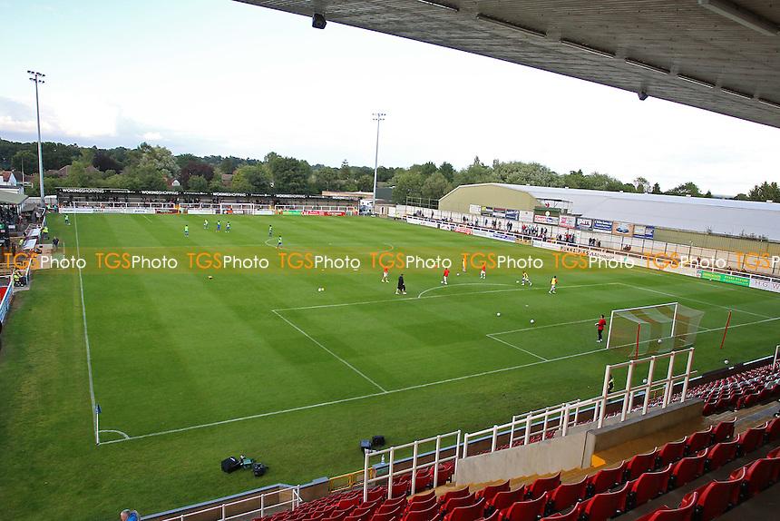 General view of Kingfield Stadium ahead of kick-off