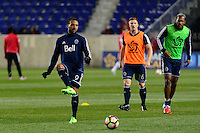 Harrison, NJ - Wednesday Feb. 22, 2017: Giles Barnes prior to a Scotiabank CONCACAF Champions League quarterfinal match between the New York Red Bulls and the Vancouver Whitecaps FC at Red Bull Arena.