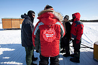 Briefing before the ice diving, Arctic circle Dive Center, White Sea, Karelia, northern Russia