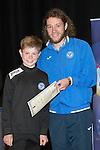 St Johnstone FC Youth Academy Presentation Night at Perth Concert Hall..21.04.14<br /> Stevie May presents to Craig Donald<br /> Picture by Graeme Hart.<br /> Copyright Perthshire Picture Agency<br /> Tel: 01738 623350  Mobile: 07990 594431
