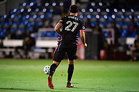 LAKE BUENA VISTA, FL - JULY 27: Shane O'Neill #27 of the Seattle Sounders kicks the ball during a game between Seattle Sounders FC and Los Angeles FC at ESPN Wide World of Sports on July 27, 2020 in Lake Buena Vista, Florida.