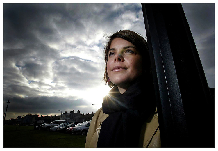 Author Dawn Cairns, pictured here at Sandymount strand. Pic. Robbie Reynolds