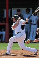 Marty Bowen #14 of the Cal State Northridge Matadors bats against the Rhode Island Rams at Matador Field on March 14, 2012 in Northridge,California. Rhode Island defeated Cal State Northridge 10-8.(Larry Goren/Four Seam Images)