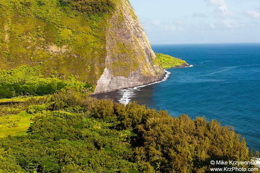 Aerial view of Waipio Valley, Big Island, Hawaii