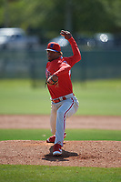 Philadelphia Phillies pitcher Rafi Gonell (77) during a Minor League Spring Training game against the Toronto Blue Jays on March 29, 2019 at the Carpenter Complex in Clearwater, Florida.  (Mike Janes/Four Seam Images)