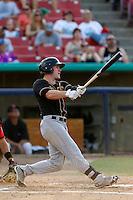 Tyler Massey #5 of the Modesto Nuts bats against the High Desert Mavericks at Stater Bros. Stadium on June 29, 2013 in Adelanto, California. Modesto defeated High Desert, 7-2. (Larry Goren/Four Seam Images)