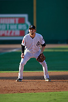 Jackson Generals third baseman Drew Ellis (29) during a Southern League game against the Mississippi Braves on July 23, 2019 at The Ballpark at Jackson in Jackson, Tennessee.  Jackson defeated Mississippi 2-0 in the first game of a doubleheader.  (Mike Janes/Four Seam Images)