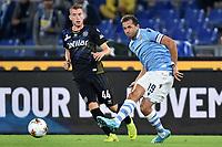 Dejan Kulusevski of Parma , Senad Lulic of SS Lazio <br /> Roma 22-9-2019 Stadio Olimpico <br /> Football Serie A 2019/2020 <br /> SS Lazio - Parma Calcio <br /> Foto Andrea Staccioli / Insidefoto