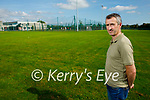 Councillor Cathal Foley at the site of the proposed Skateboard Park at the Tralee Sports Complex