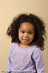 closeup headshot portrait of 3 year old girl vertical