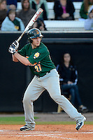 Siena Saints catcher Kyle Baldani #27 during a game against the Central Florida Knights at Jay Bergman Field on February 16, 2013 in Orlando, Florida.  Siena defeated UCF 7-4.  (Mike Janes/Four Seam Images)