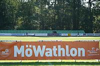 Läufer kommen auf die Stadionrunde- Mörfelden-Walldorf 18.07.2021: MoeWathlon