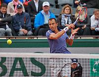 Paris, France, 23 june, 2016, Tennis, Roland Garros, Lukas Rosol (CZE)<br /> Photo: Henk Koster/tennisimages.com