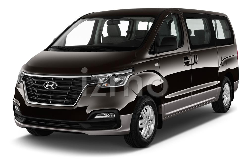 2019 Hyundai H1-People Executive 5 Door Mini Van angular front stock photos of front three quarter view