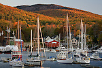 Autumn sunrise in Camden Harbor, Camden, Midcoast ME