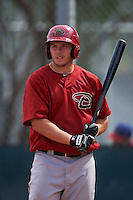Arizona Diamondbacks Austin Byler (47) during an instructional league game against the Texas Rangers on October 10, 2015 at the Salt River Fields at Talking Stick in Scottsdale, Arizona.  (Mike Janes/Four Seam Images)