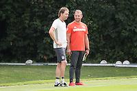 Co-Trainer Marcus Sorg und DFB-Sportdirektor Hansi Flick - Training Deutsche Olympiamannschaft des DFB, Commerzbank Arena, Frankfurt
